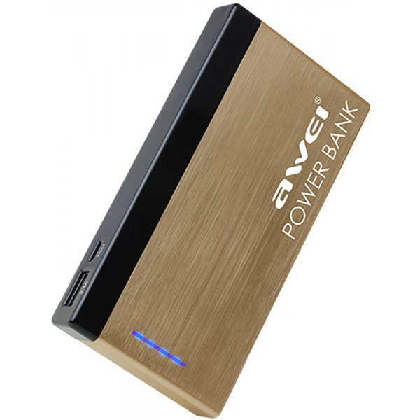 Портативная батарея AWEI P95K 10000mAh Luxury Gold