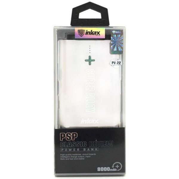 Портативная батарея INKAX Power Bank 8000 mAh PV-22 3.1A Li-Pol Grey