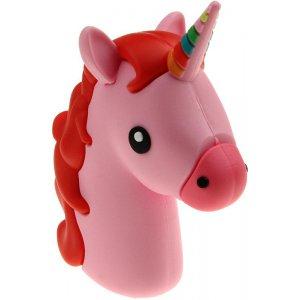 Портативная батарея TOTO TBHQ-91 Power Bank 8800 mAh Emoji Unicorn Pink Red