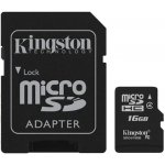 Карта памяти Kingston microSDHC class 4 SD adapter 16Gb