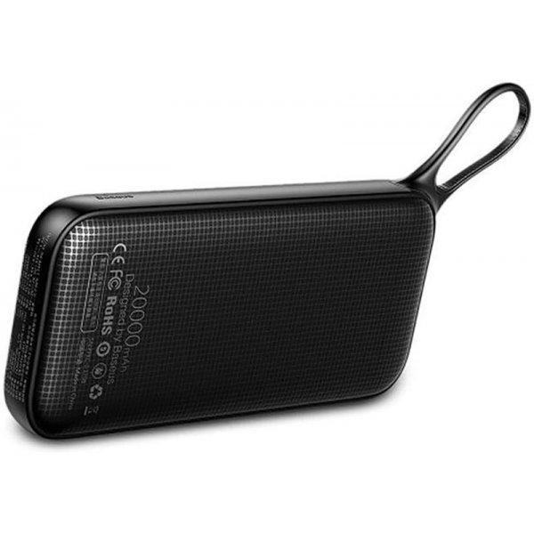 Портативная батарея Baseus Power Bank Powerful Type-C PD QC3.0 Quick Charge 20000 mAh Black