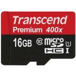 Карта памяти Transcend microSDXC/SDHC Class 10 UHS-I 400x 16Gb