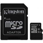 Карта памяти Kingston microSDHC/microSDXC class 10 UHS-I SD adapter 16Gb