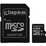 Карта памяти Kingston microSDHC/microSDXC Class 10 UHS-I SD adapter 64Gb