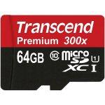 Карта памяти Transcend microSDXC/SDHC Class 10 UHS-I 400x SD adapter 64Gb