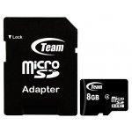 Карта памяти Team microSDHC class 4 SD adapter 8Gb