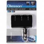 Автомобильное зарядное устройство Olesson 3in1 1520 3 LED разьема 120W прикуривателя