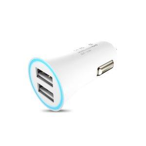 Автомобильное зарядное устройство HOCO UC204  2-Port USB 2.4A White