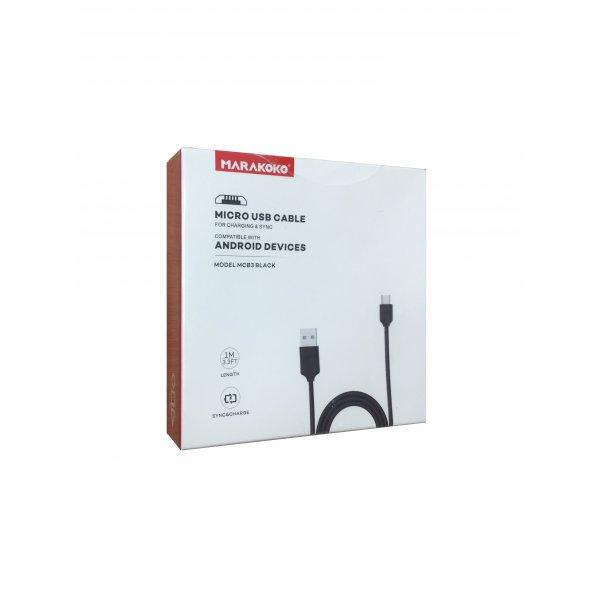 Кабель USB Cable MARAKOKO MCB3 Micro 1M Black