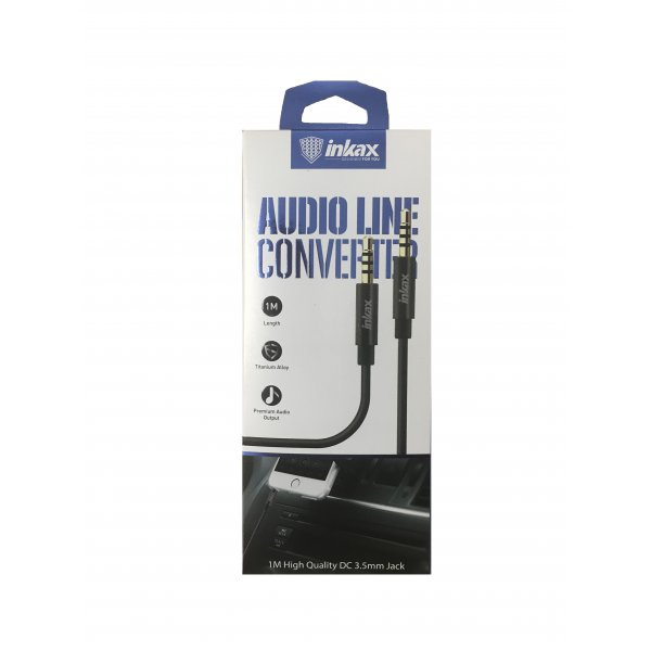 AUX Cable INKAX AL-01  1m Black