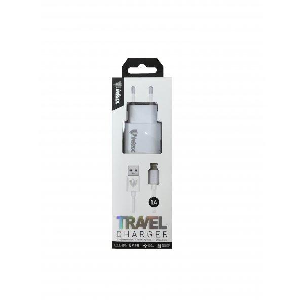 Сетевое зарядное устройство INKAX CD-08 + сable Lightning 1-Port USB 1A White