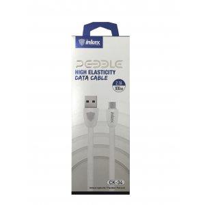 Кабель USB Cable INKAX CK-34 Micro 1m White