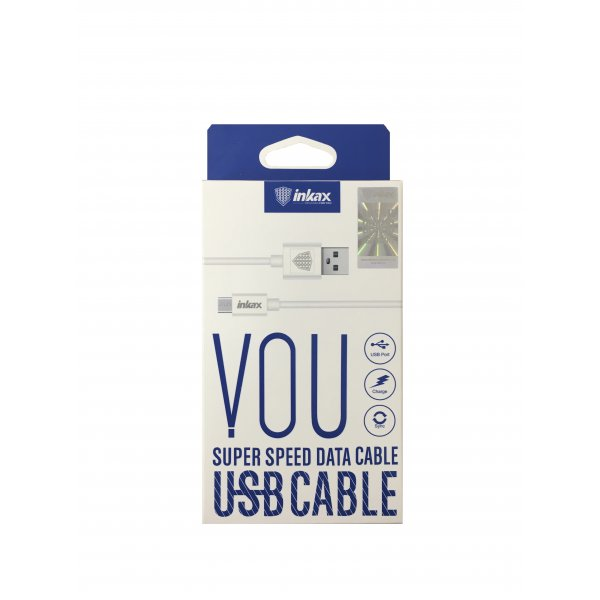 Кабель USB Cable INKAX CK-13 Micro 1m White