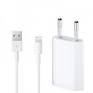 Сетевое зарядное устройство iPhone Куб + cable Lightning 1-Port USB 1A White