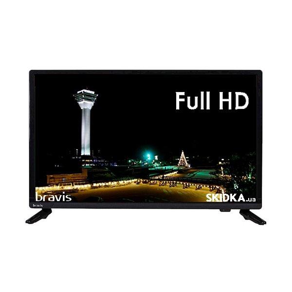 Телевизор Bravis LED-22E6000 + T2 black