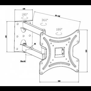 Кронштейн iTech LCD-423.W
