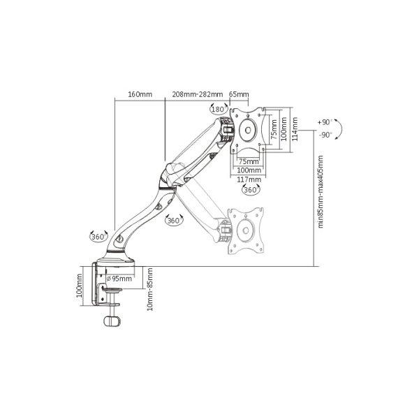 Кронштейн для монітора iTech MBSG-02F