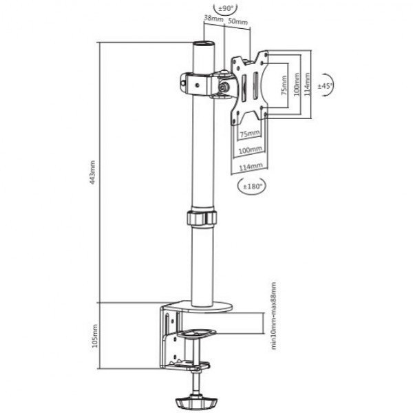 Кронштейн для монитора iTech MBES-01F