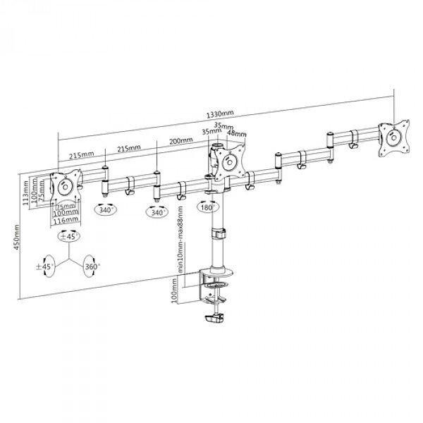 Кронштейн для монитора iTech MBS-13F