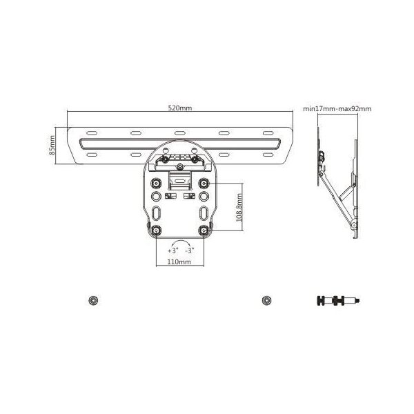 Кронштейн Brateck LED-13Q