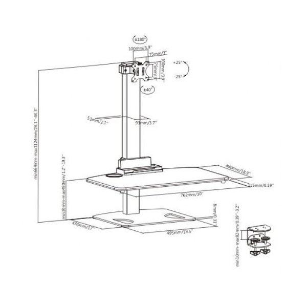 Кронштейн для монитора iTech TW-01