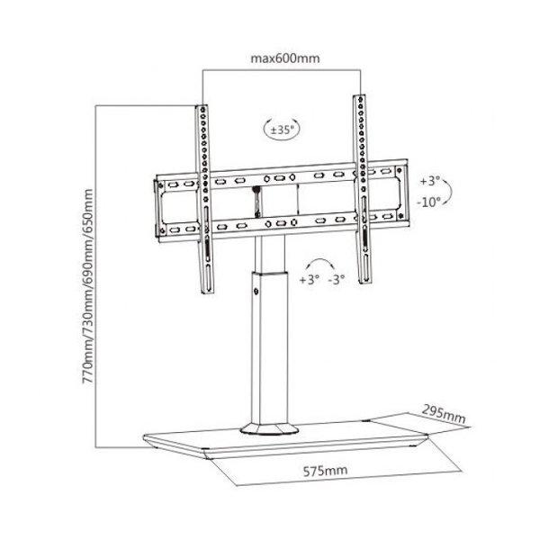 Кронштейн для монитора iTech KFG-5 WHITE