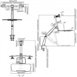 Кронштейн для монитора iTech TW-02