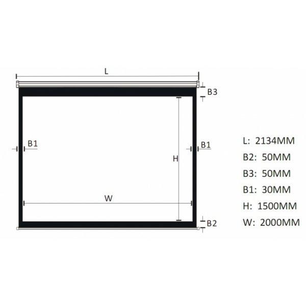 """Экран для проектора 100""""(200х150см) LOGAN PRM3"""