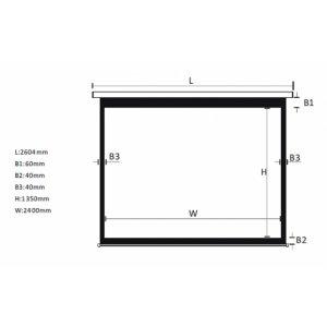 """Экран для проектора 108""""(240х135см) LOGAN PRMC4"""