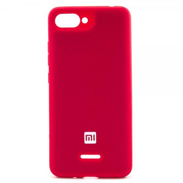 """ORIGINAL SILICONE Cover для Xiaomi Redmi 6A """"07"""" Red"""