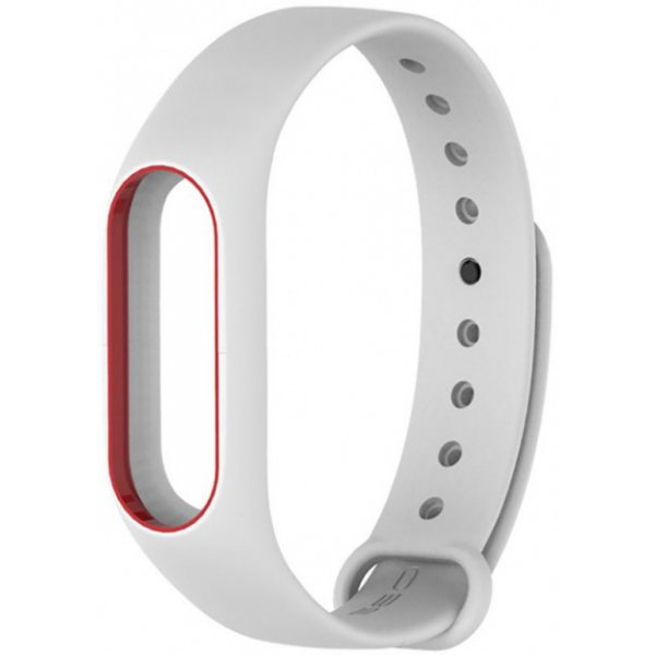 Ремешок UWatch Double Color Replacement Silicone Band For Xiaomi Mi Band 2 White/Red Line