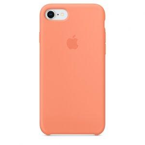 Чехол Silicone Case для iPhone 7/8 Peach Red