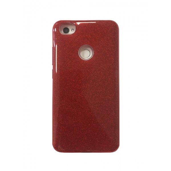 Silicone 3in1 Блёстки Xiaomi RedMi Note 5A / Note 5A Prime Red