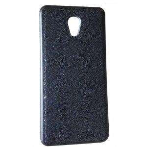 Чехол силикон блестки Meizu M6 Note Black