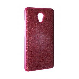 Чехол силикон блестки Meizu M6 Note Red
