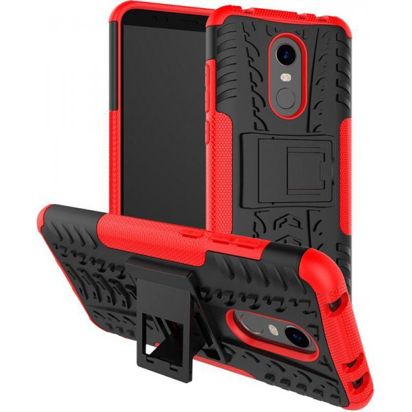 Чехол-накладка TOTO Dazzle kickstand 2 in 1 phone case для Xiaomi Redmi Note 5 Red