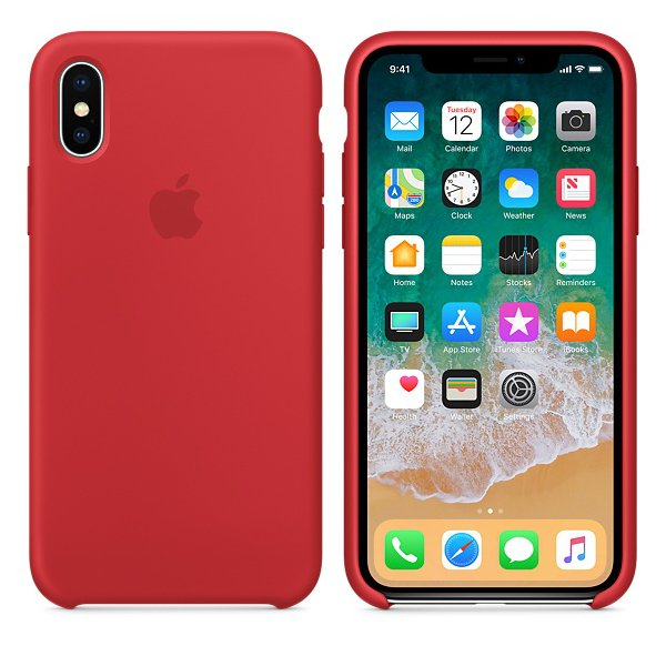 Чехол Silicone Case для iPhone X Red