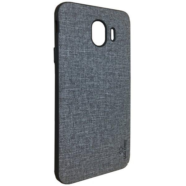 LUO Case Накладка Алькантара для Samsung J4 2018 Black