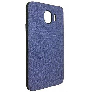 LUO Case Накладка Алькантара для Samsung J4 2018 Фиолетовый