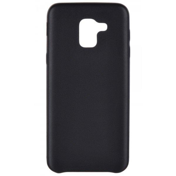 LUO Case Накладка Алькантара для Samsung J6 2018 Black