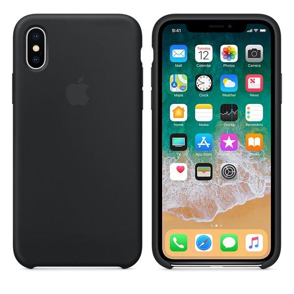 Чехол Silicone Case для iPhone X/Xs Black