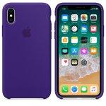 Чехол Silicone Case для iPhone X/Xs Ultra Violet