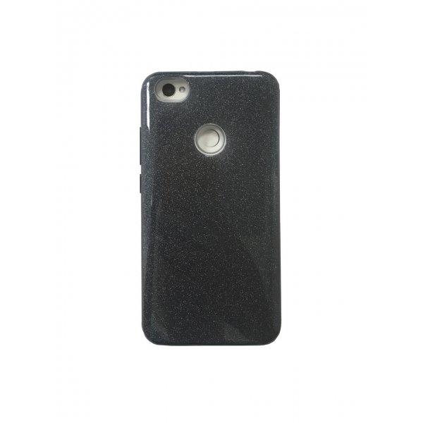 Чехол TOTO Silicone 3in1 Блёстки Xiaomi RedMi 5 Black
