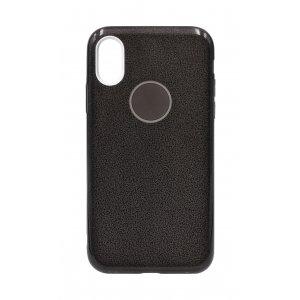 Силикон блестки Хром IPhone X/Xs Black