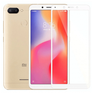 Защитное стекло 3D SLIM 0.2mm Xiaomi RedMi 6/6A White