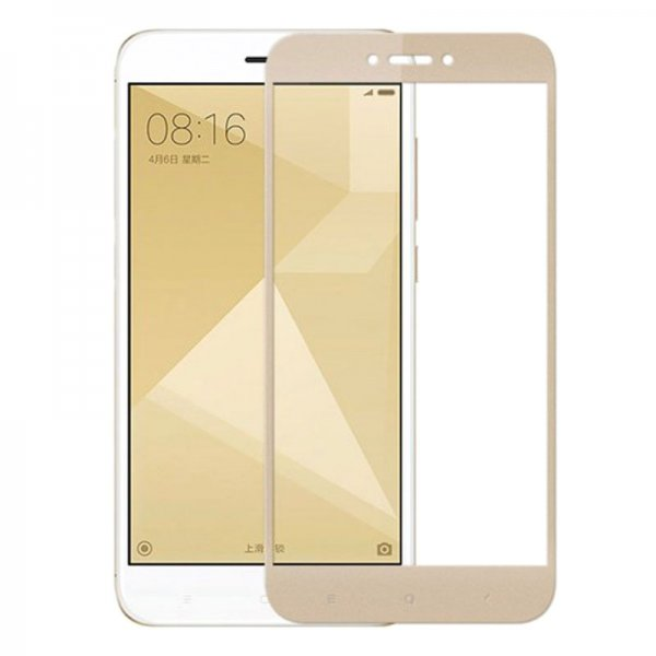 Защитное стекло 3D SLIM 0.2mm Xiaomi RedMi Note 4X Gold