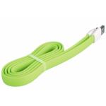 microUSB кабель Remax Flat Full Speed II RC-011m, 1m green